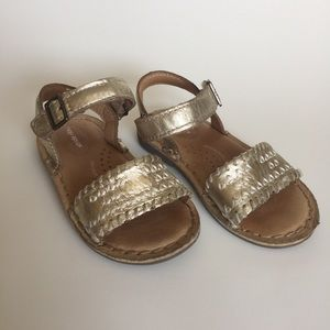 Stride Rite gold sandals strappy